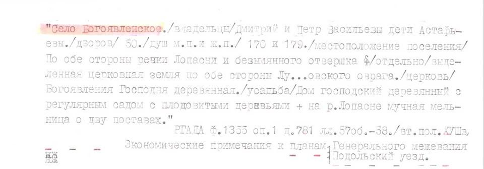 2-я пол. XVIII века. Планы Генерального межевания Подольского уезда (копия из архива РГАДА)